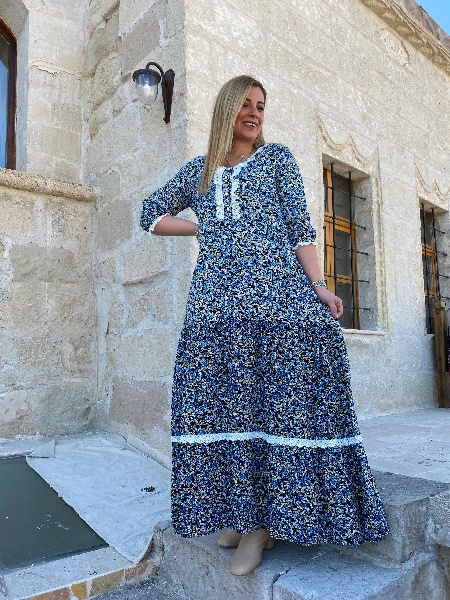 Truvakar Kol Viskon Kumaş Elbise